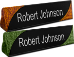 Faux Finish Desk Name Plates