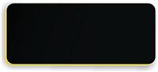 Blank Smooth Plastic Name Tag: Black and Gold - LM922-417
