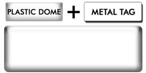 Blank Economy Plastic Dome White Metal Name Tag