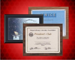 Certificate And Photograph Holder Plaques