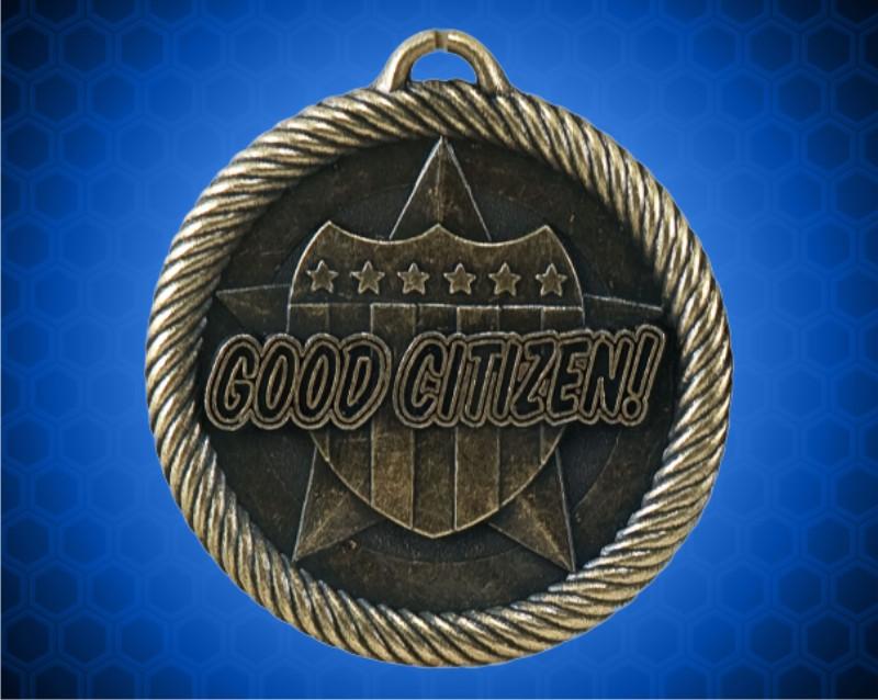2 inch Gold Good Citizen Value Medal