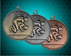 1 1/2 Inch Wrestling Die Cast Medal