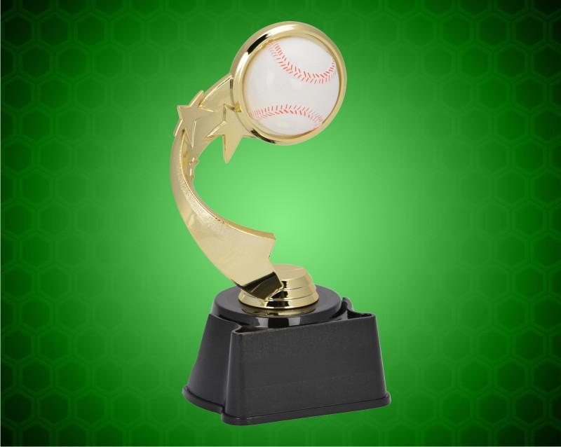 "7"" Baseball Ribbon Star Trophy"
