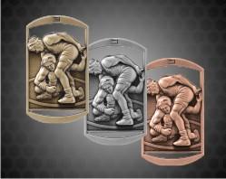 2 3/4 inch Wrestling DT Medals