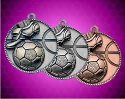 2 Inch Soccer Die Cast Medal