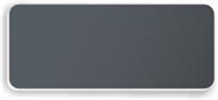 Blank Smooth Plastic Name Tag: Smoke Grey and White - LM922-312