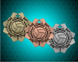 2 Inch Volleyball Imperial Medal