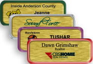 Brushed Gold Metal Nametag with Border