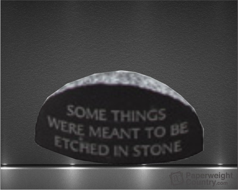 2 1/4 x 4 1/4 x 2 1/2 Inch Jet Black Chisel-Etched Paperweight