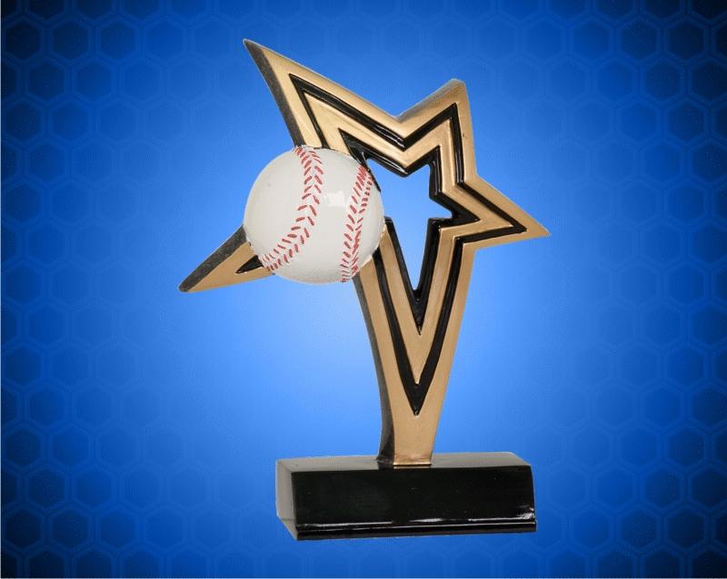 6 Inch Baseball Infinity Star Resin