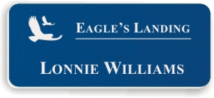 Textured Plastic Nametag: Sapphire with White - 822-503