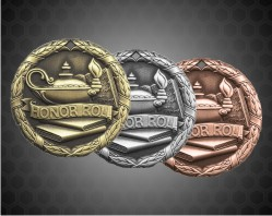1 1/4 inch Honor Roll XR Medal