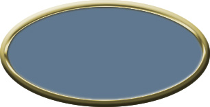 Blank Oval Plastic Gold Nametag with China Blue