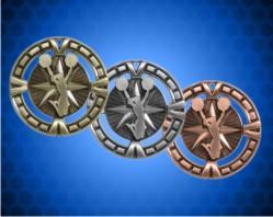 2 1/2 inch Cheerleader BG Medals