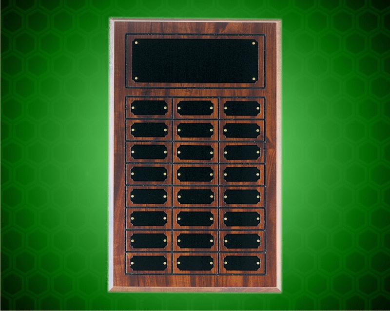 11 3/4 x 18 3/4 Inch Cherry Finish Perpetual Plaque (24 Plates)