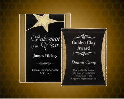 Gold Star & Reflection Acrylic Plaque