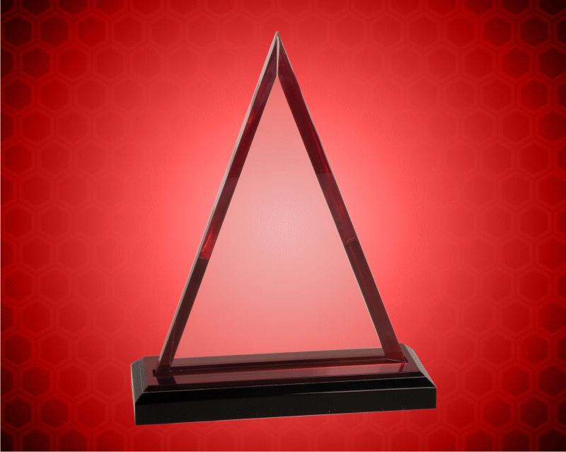 8 3/4 Inch Red Triangle Impress Acrylic