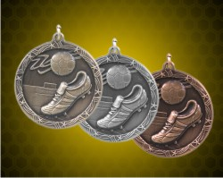 1 3/4 Inch Soccer Shooting Star Medals