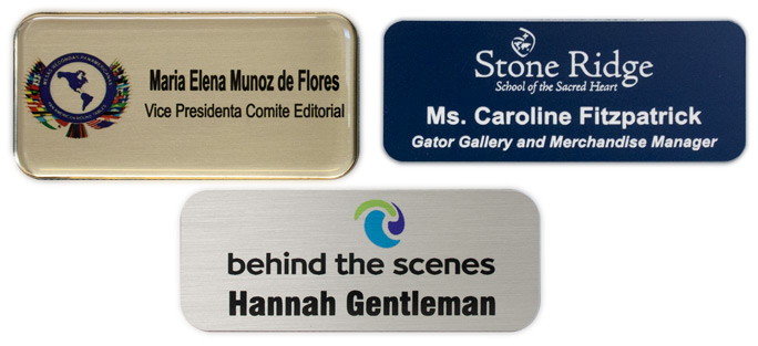 Name Tag Samples