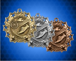 2 1/4 Inch Track Ten Star Medals