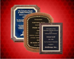 Walnut Finish Plaques