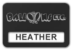 Reusable Smooth Plastic Windowed Name Tag: Black with Silver - LM922-413
