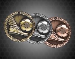 1 1/4 Inch Soccer XR Medal