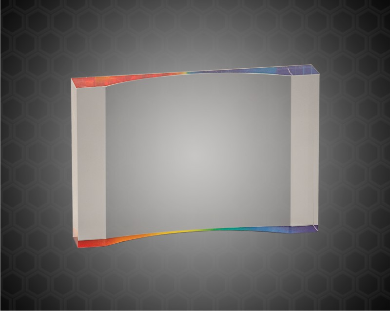 3 1/2 x 5 Inch Rainbow 1 Inch Thick Acrylic Crescent