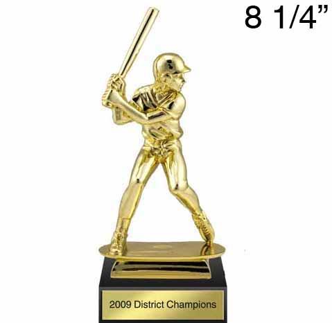 Gold Plastic Baseball Figure Award with Marble Base