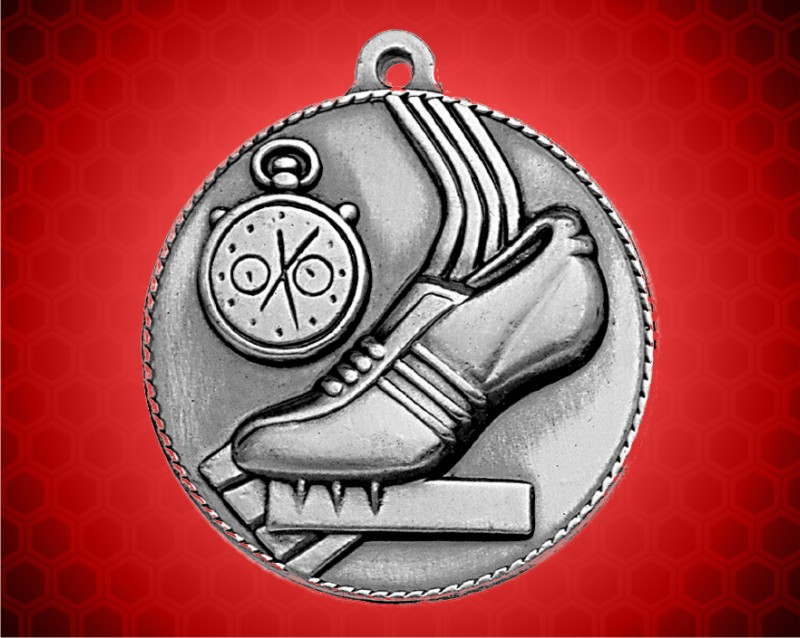 2 inch Silver Track Die Cast Medal