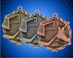 1 3/4 Inch Hockey Wreath Medal