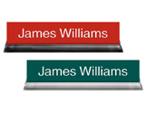Desk Name Plates with Acrylic Base