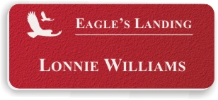 Textured Plastic Nametag: Pimento with White - 822-642
