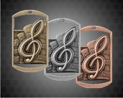2 3/4 inch Music DT Medals