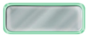 Blank Shiny Silver Nametag with a Shiny Green Metal Border