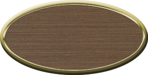Blank Oval Plastic Gold Nametag with Deep Bronze