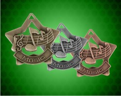 2 1/4 inch Music Star Medals