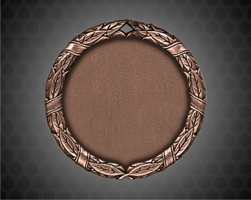 2 inch Bronze XR Medal with a Blank 1 1/2 inch engravable center