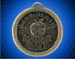 2 inch 'Apple A-B Honor Roll Value Medal