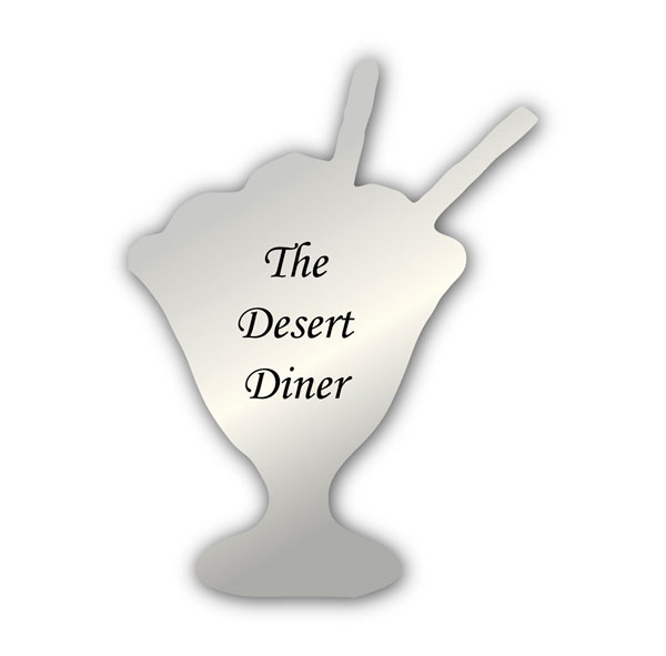 Smooth Plastic Dessert 1 Shape Name Tag - 2.7 x 2 inches