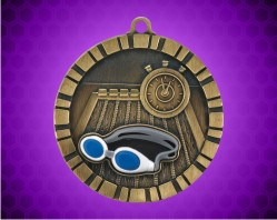 2 inch Swimming 3-D Medal