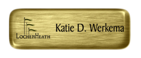 Metal Name Tag: Brushed Gold with Epoxy