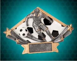 Male Soccer Diamond Star Resin
