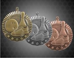 2 3/4 inch Bowling Star Medal