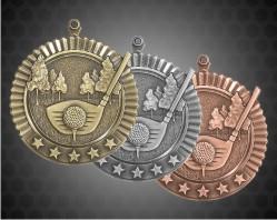 2 3/4 Inch Golf Star Medal