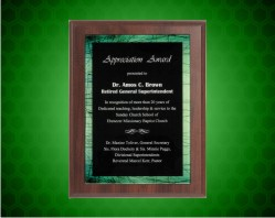 Green Galaxy Acrylic Plaque