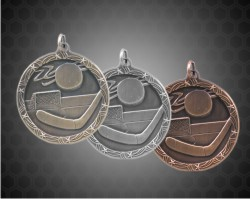 2 1/2 Inch Hockey Shooting Star Medals