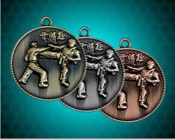 1 1/2 Inch Karate Die Cast Medal