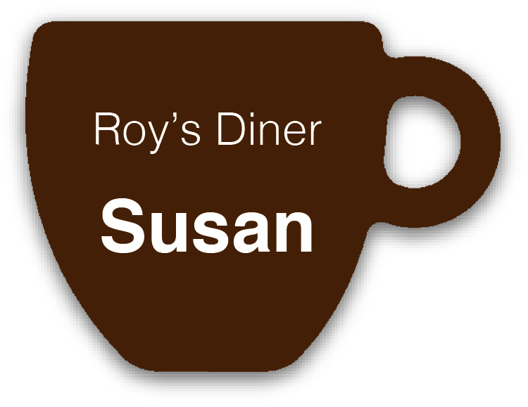 Smooth Plastic Cup Shape Name Tag - 1.66 x 2.25 inches