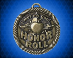 2 inch Gold Met My Goal Honor Roll Value Medal